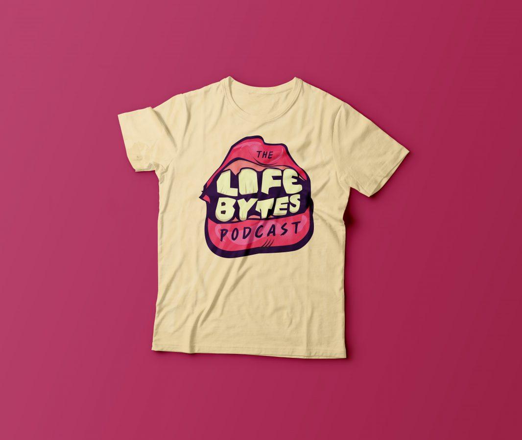 Life Bytes T-Shirt-Mockup PURP
